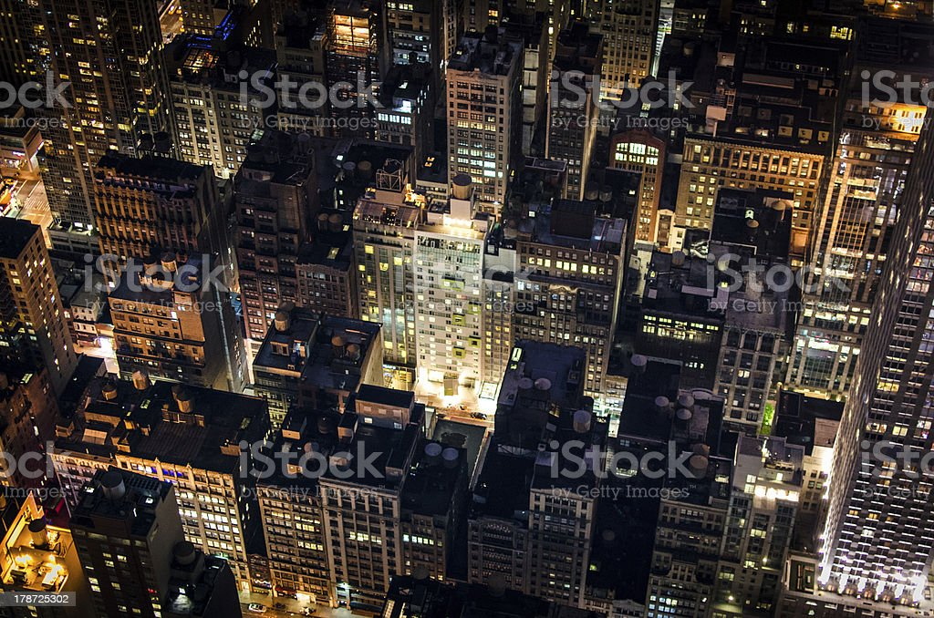 New York Rooftops by Night royalty-free stock photo