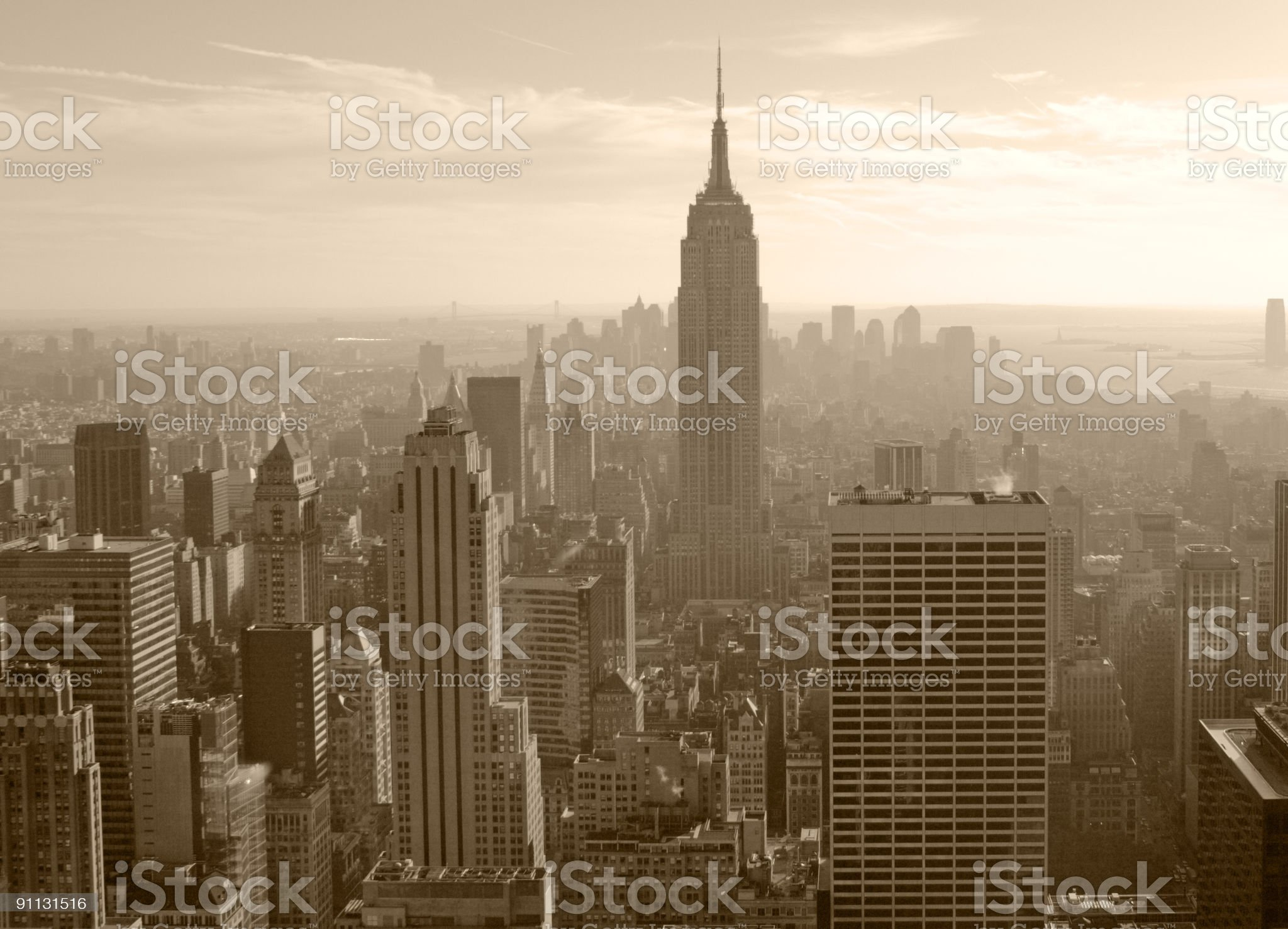 New York Sepia City royalty-free stock photo