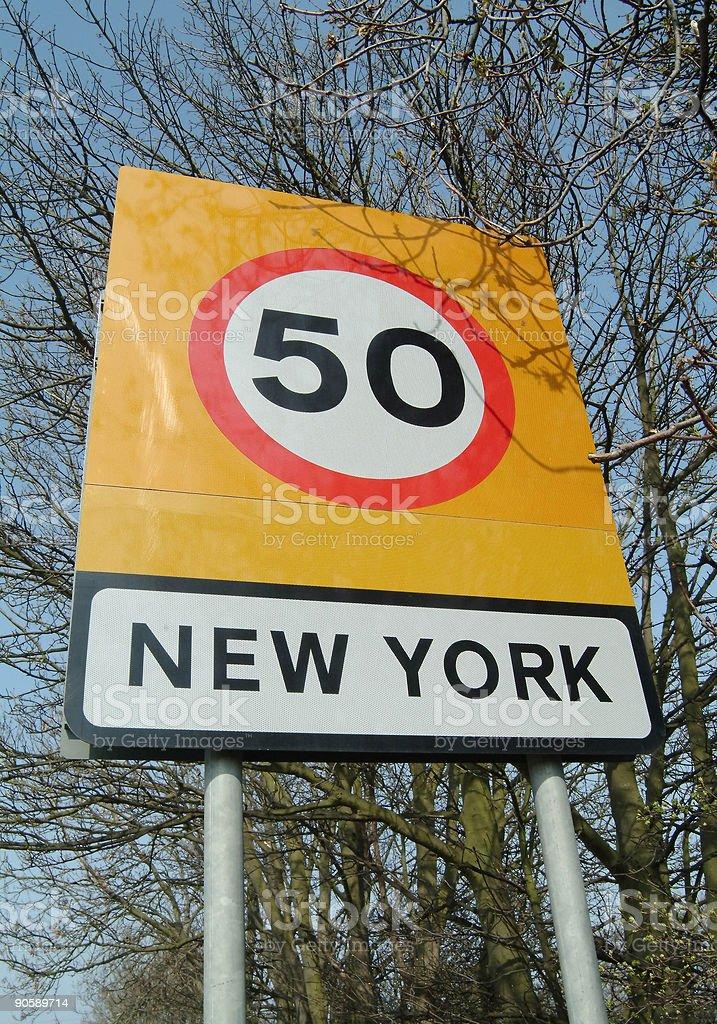 New York sign royalty-free stock photo