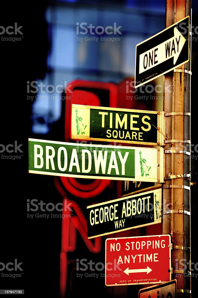 New York Sign Post stock photo