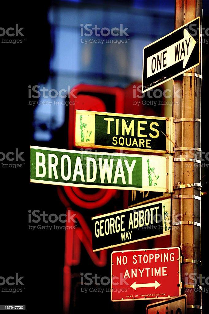New York Sign Post stock photo