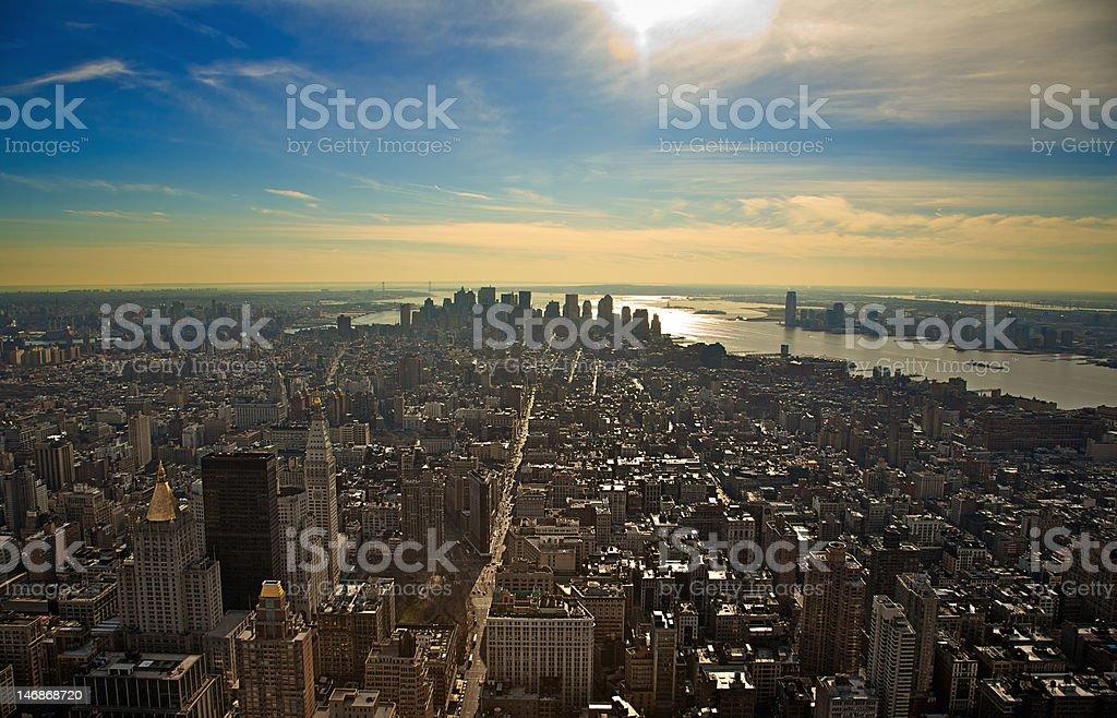 New York Skyline Facing South royalty-free stock photo