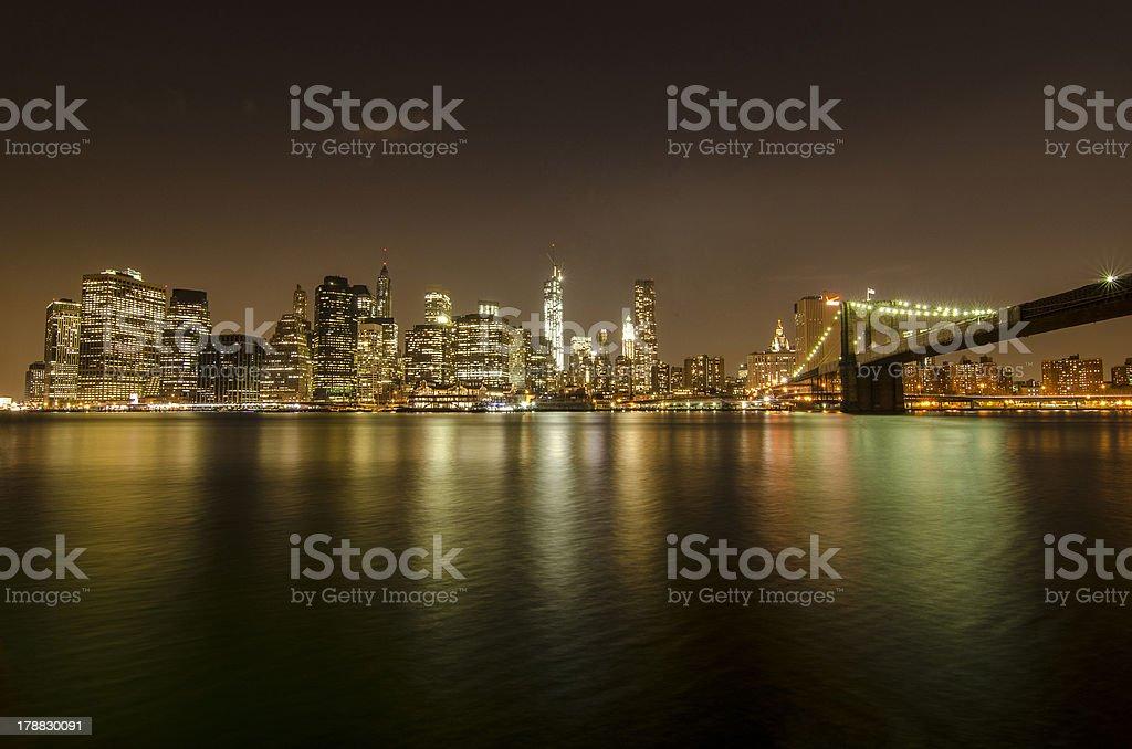 New York Skyline from Brooklyn royalty-free stock photo