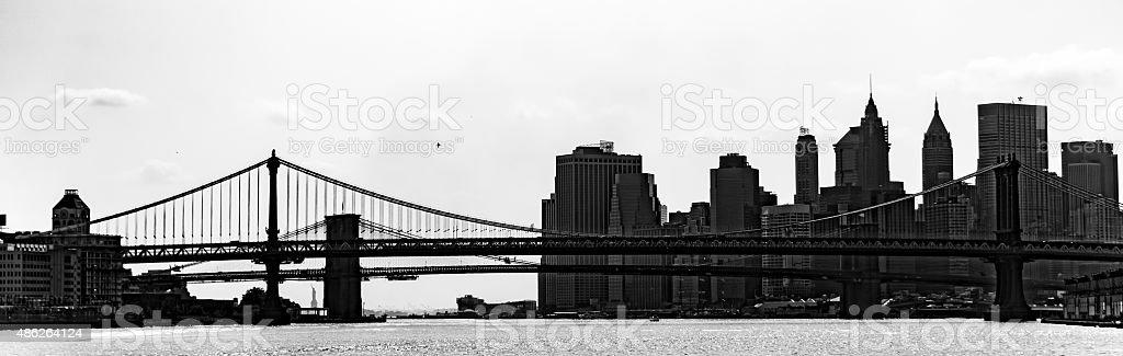 New York Skyline in Black and White stock photo