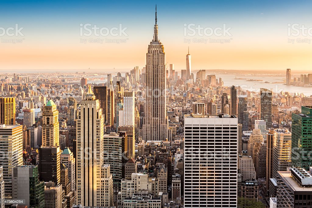 new york skyline on a sunny afternoon stock photo 473804254 istock. Black Bedroom Furniture Sets. Home Design Ideas