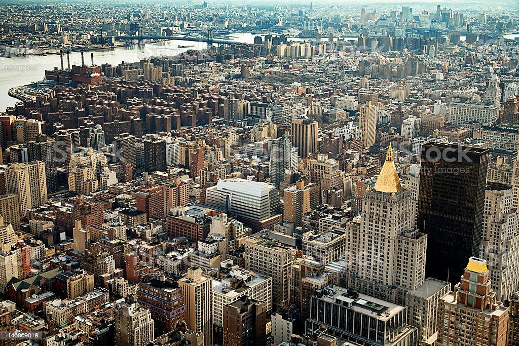 New York Skyline South East royalty-free stock photo