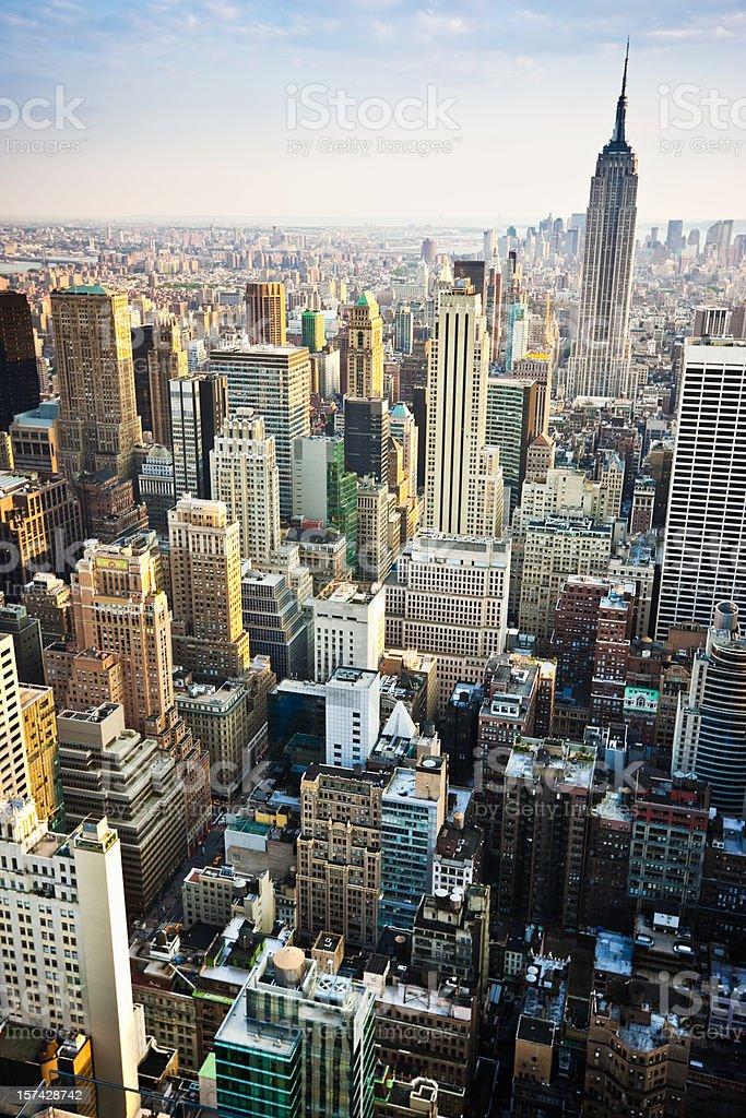New York Skyline Summertime View royalty-free stock photo