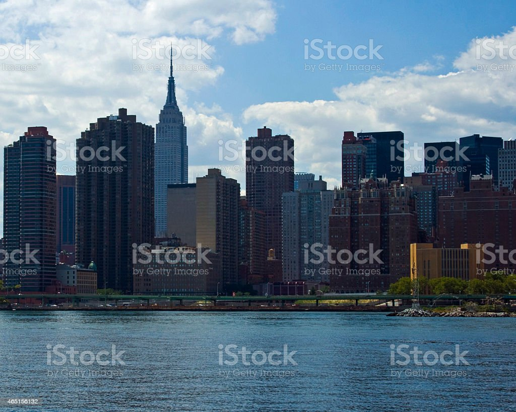 New York Skyline with Empire State Building stock photo