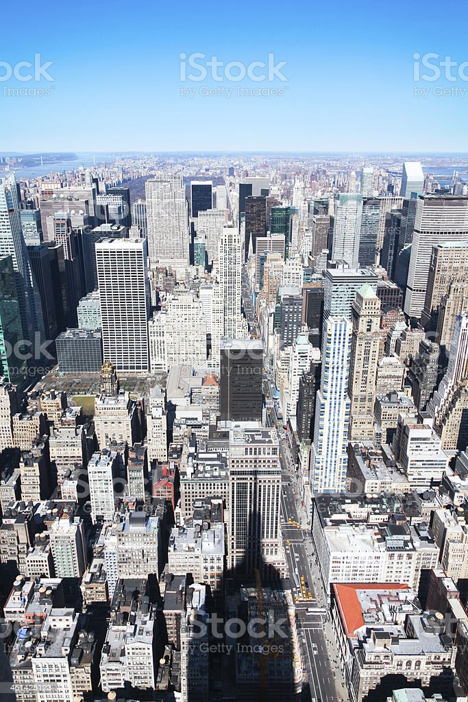 New York Skyscraper on a Clear Sky royalty-free stock photo