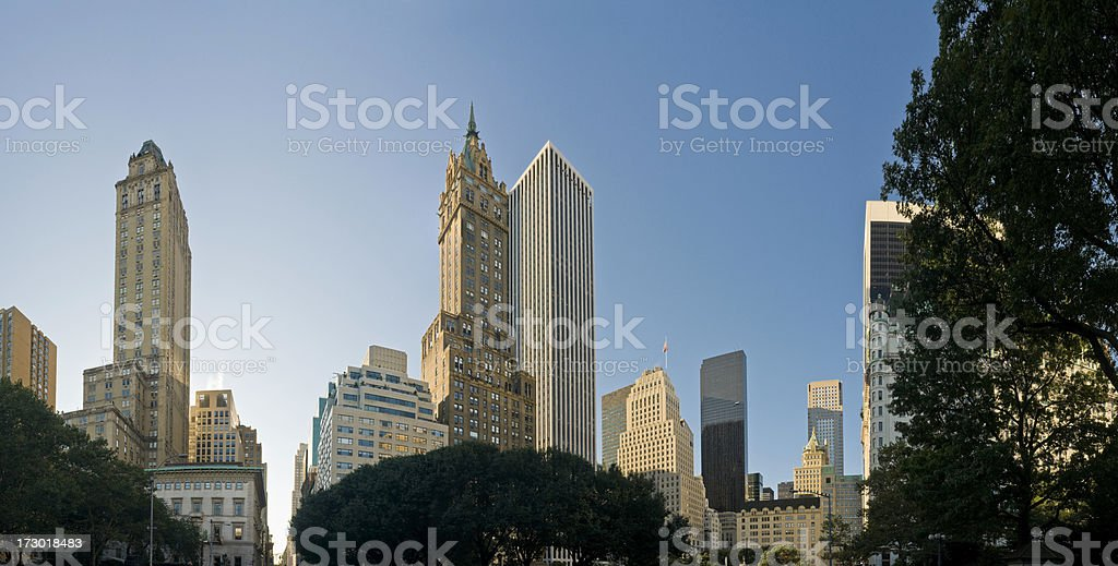 New York skyscrapers 5th Avenue royalty-free stock photo