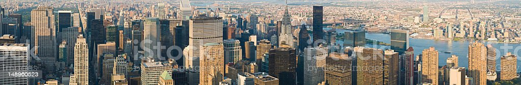New York skyscrapers and Queens royalty-free stock photo