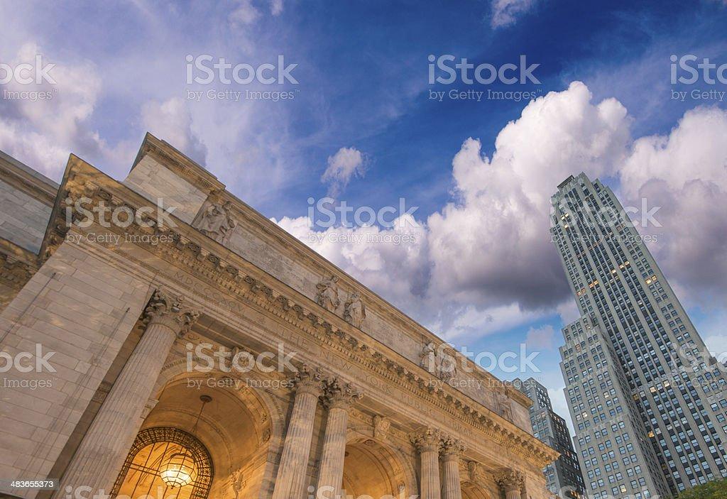 New York Skyscrapers on 5th Avenue stock photo