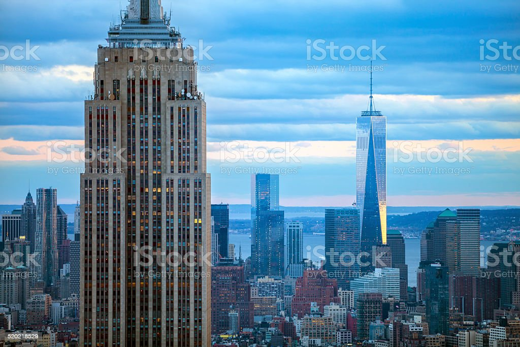 New York Skyscrapers With Empire State Building stock photo