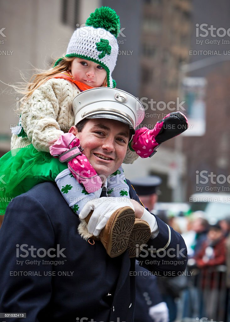 New York St Patrick's Day Parade stock photo