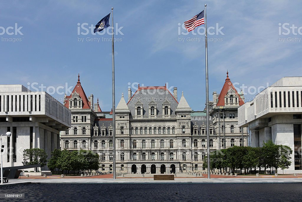New York State Capitol, Albany royalty-free stock photo