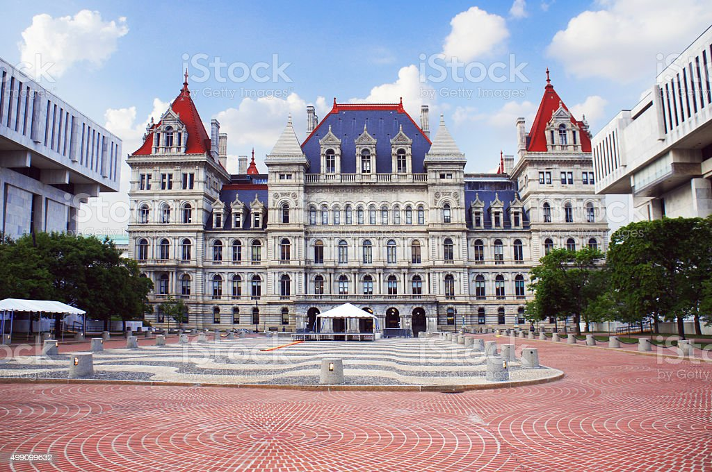New York State Capitol in Albany stock photo