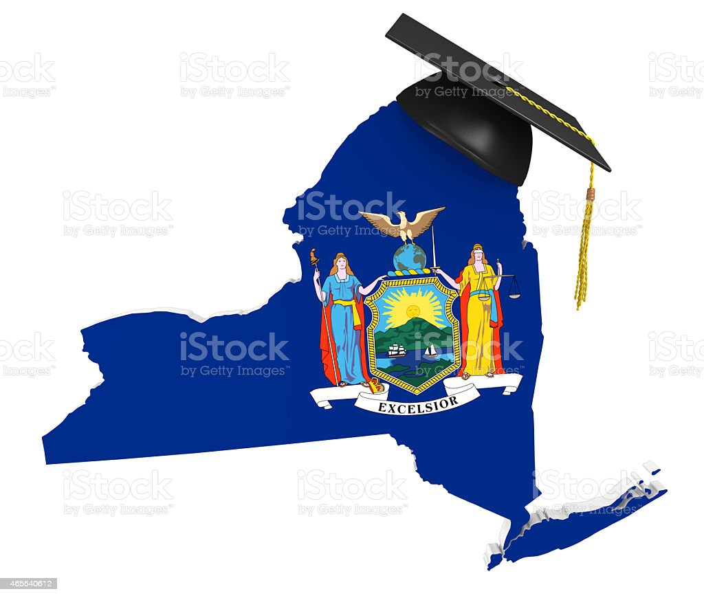 New York state college and university education stock photo