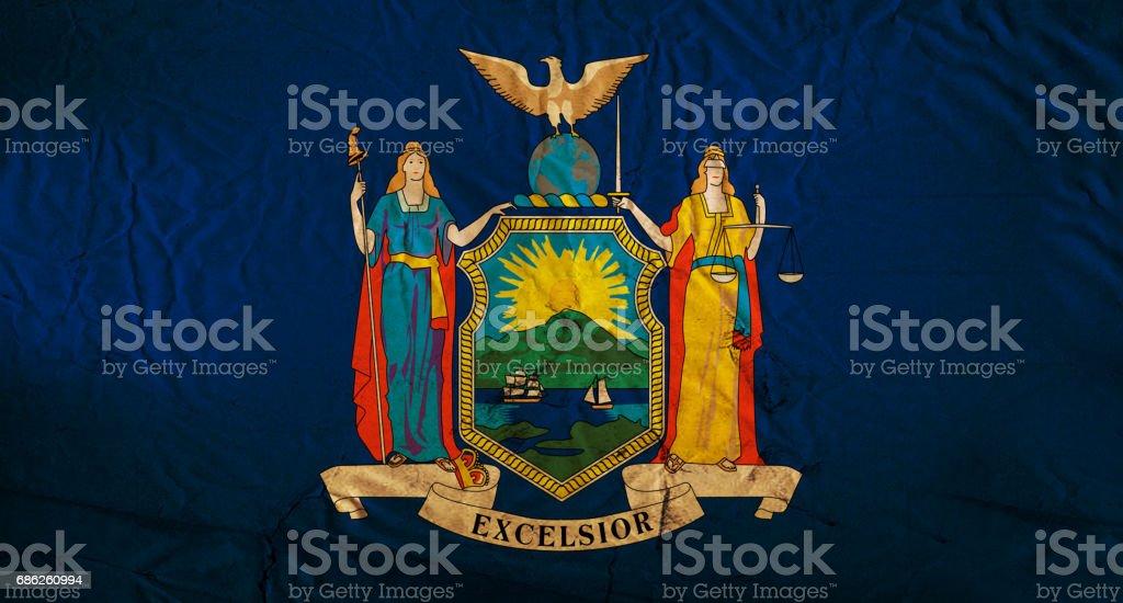New York State grunge flag stock photo