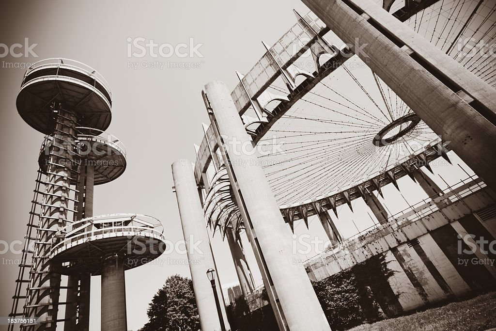 New York State Pavillion in Flushing Meadows stock photo