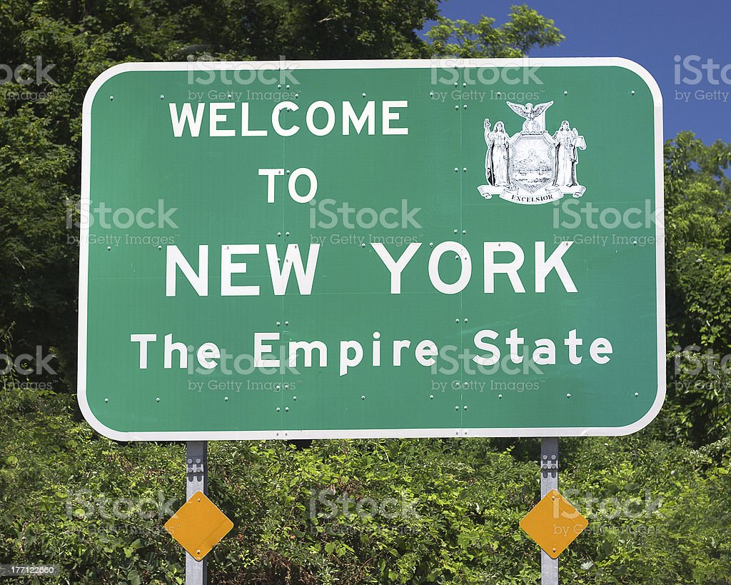 New York State Sign royalty-free stock photo