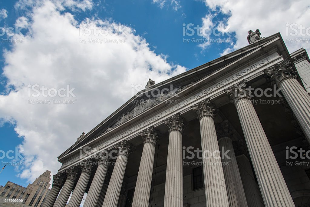New York State Supreme Court building in Lower Manhattan stock photo