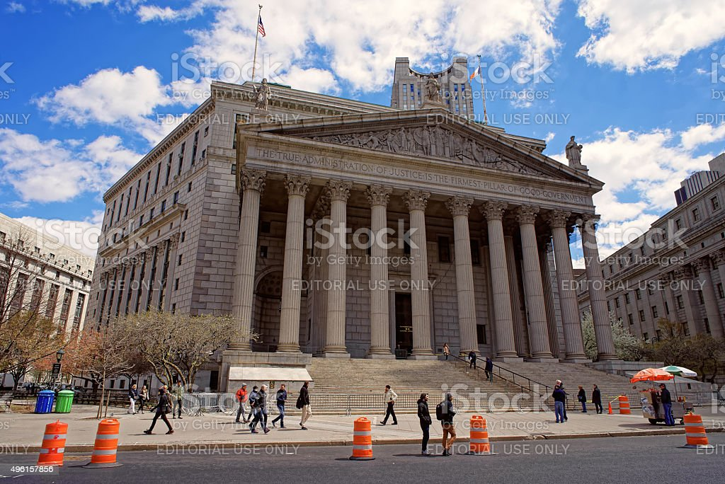 New York State Supreme Court building stock photo