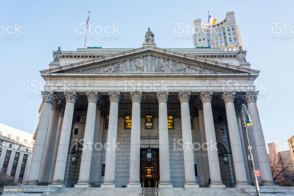 New York State Supreme Court stock photo