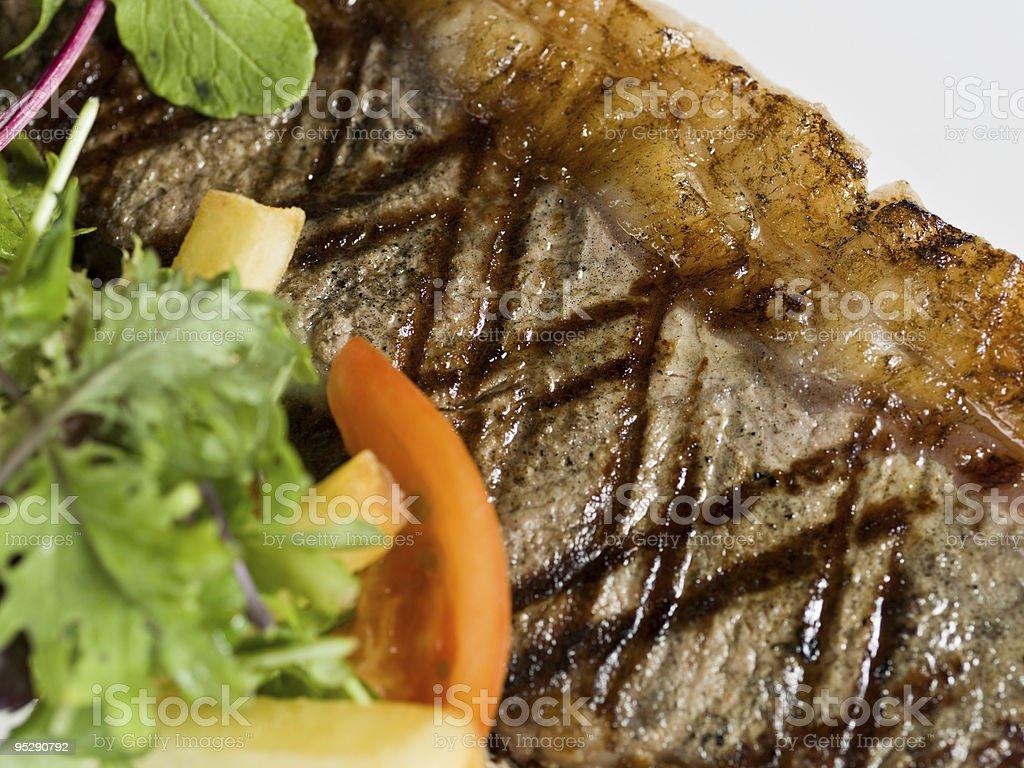 New York Steak Close up royalty-free stock photo