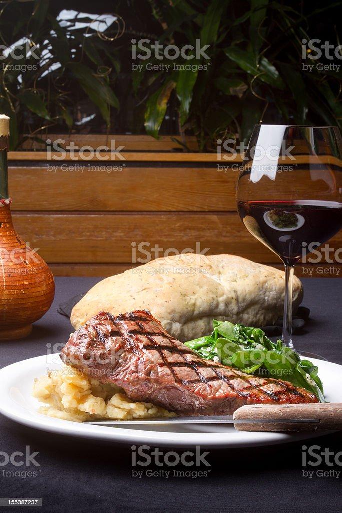New York Steak Dinner royalty-free stock photo