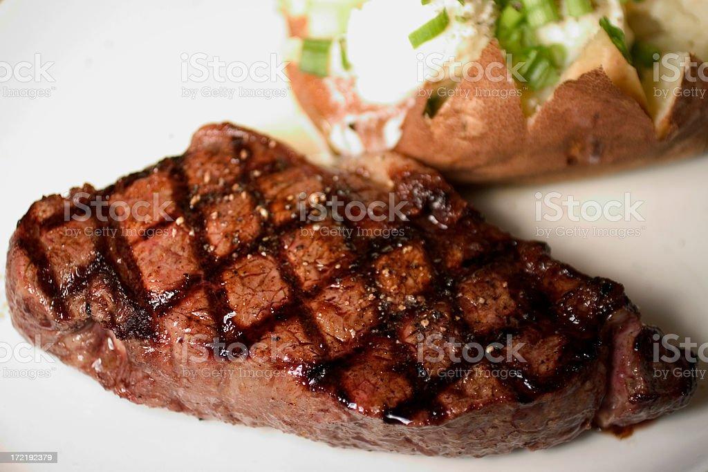 New York Steak royalty-free stock photo