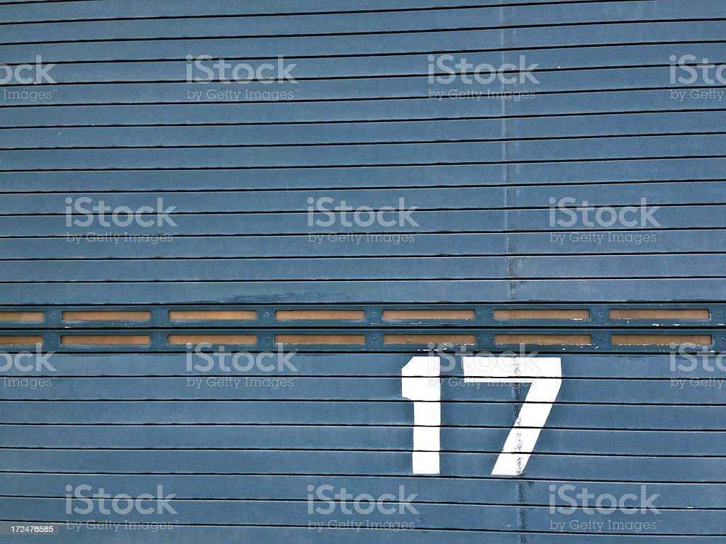 USA, New York, stencilled number on door. stock photo