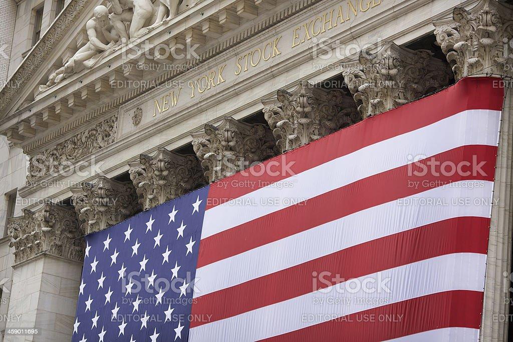 New York Stock Exchange building exterior royalty-free stock photo