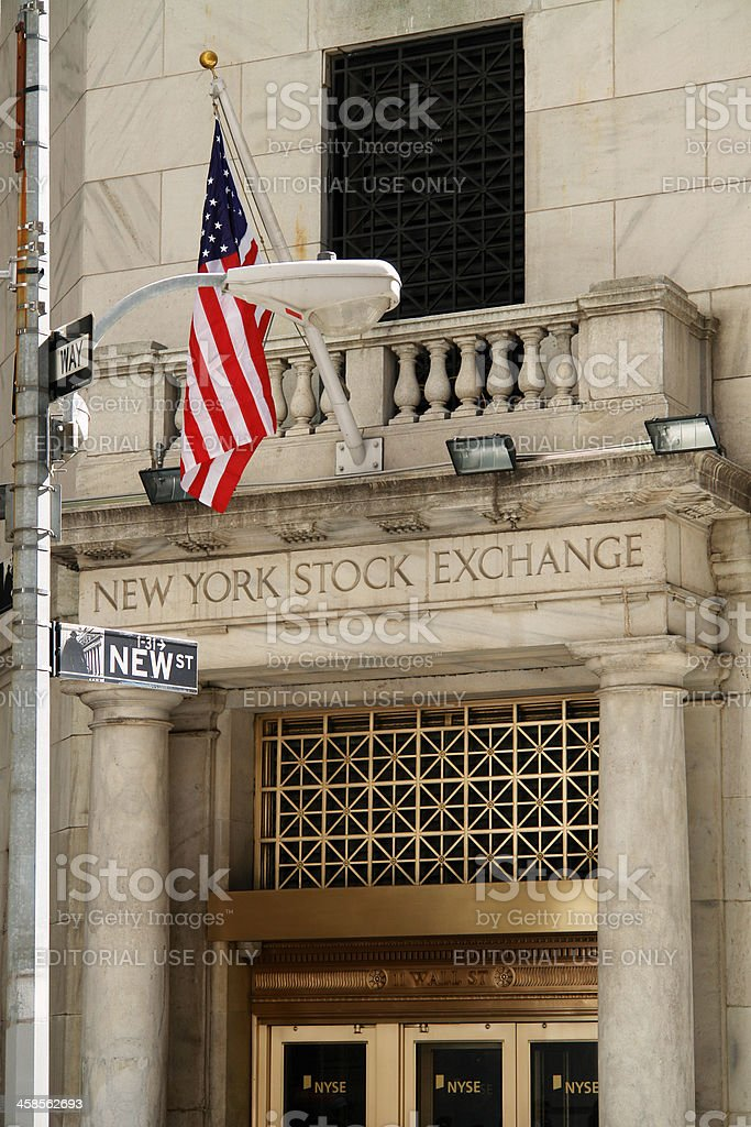 New York Stock Exchange Entrance royalty-free stock photo