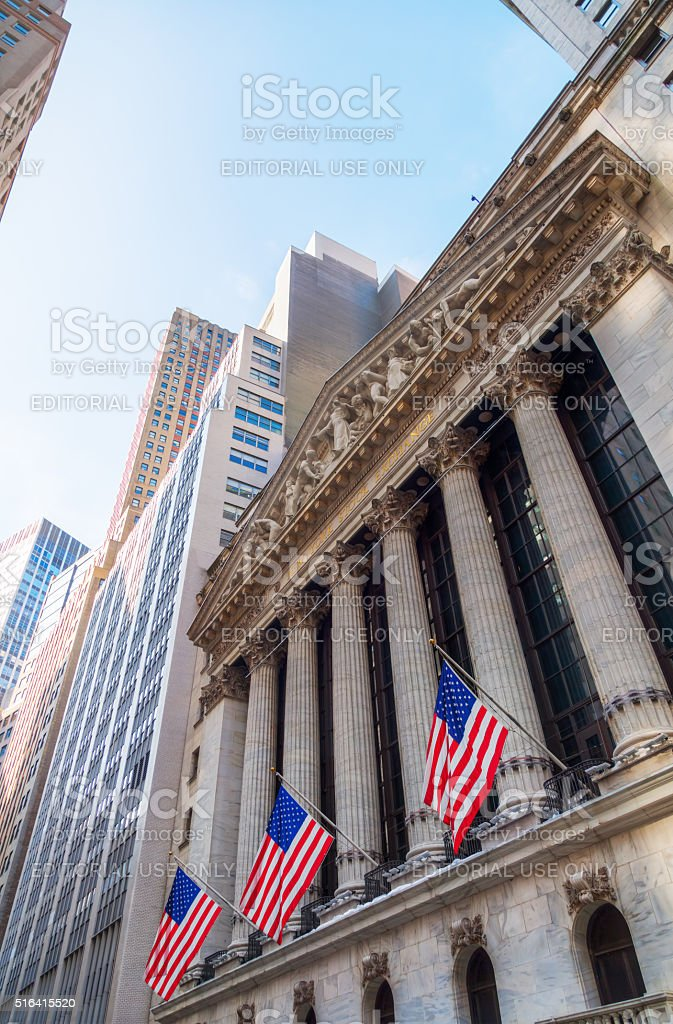 New York Stock Exchange in Manhattan, NYC stock photo