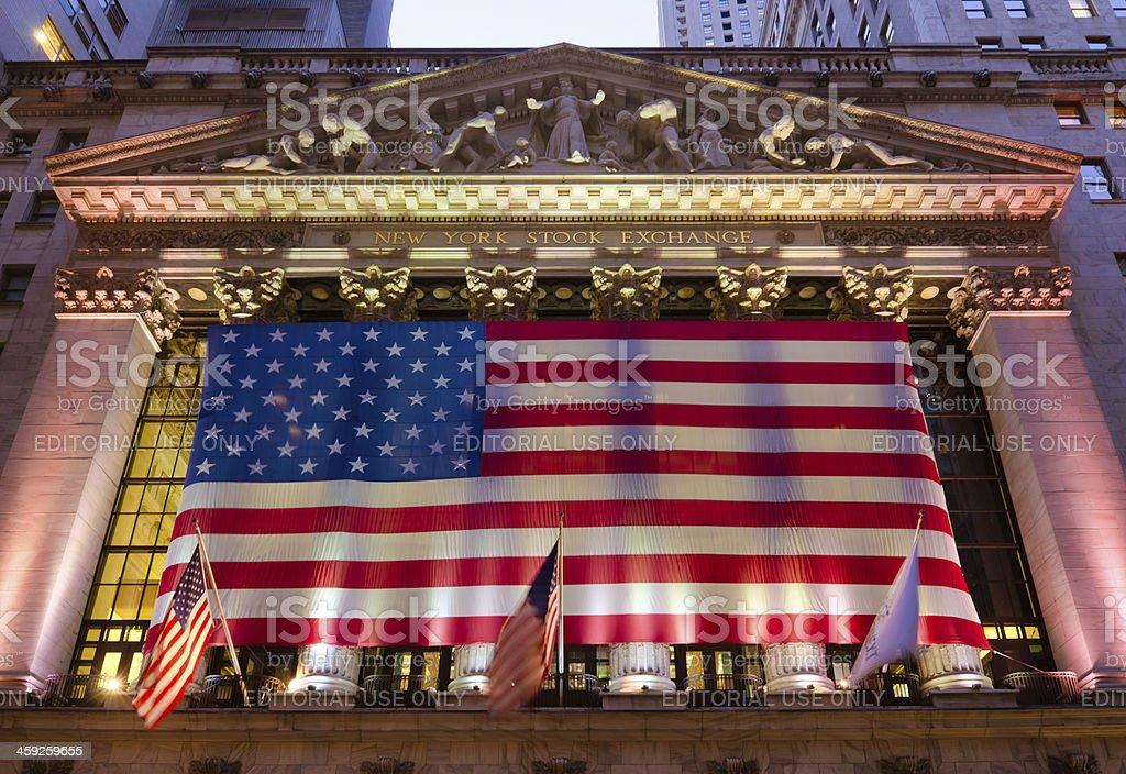 New York Stock Exchange in Manhattan stock photo