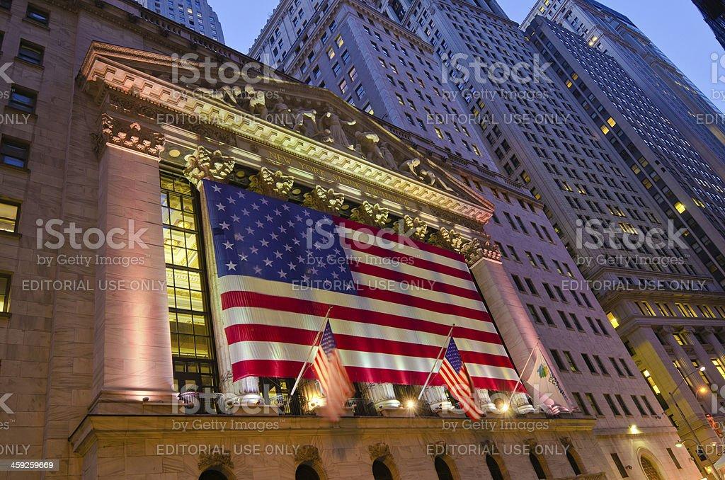 New York Stock Exchange in Manhattan royalty-free stock photo