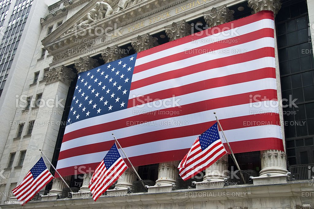 New York Stock Exchange in NYC royalty-free stock photo