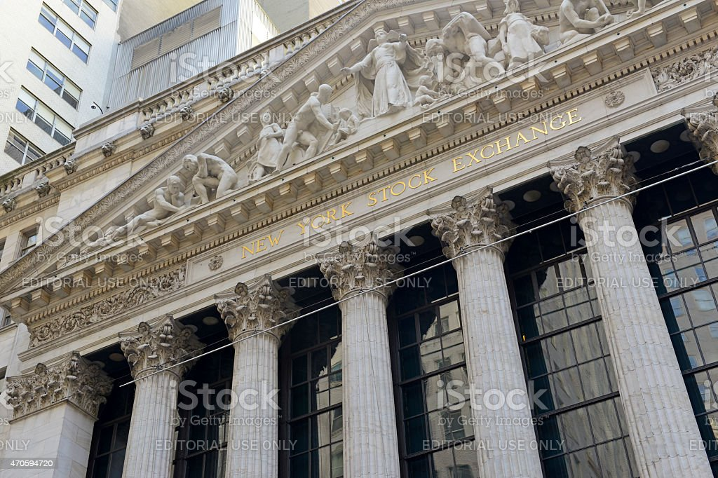 New York Stock Exchange, Lower Manhattan stock photo