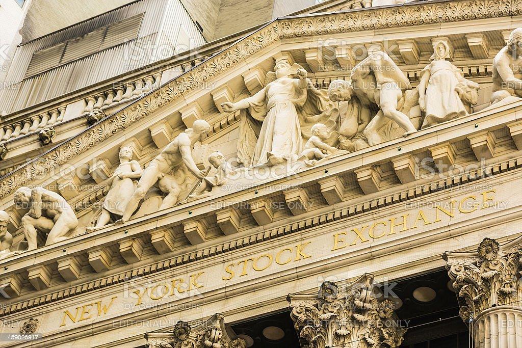 New York Stock Exchange NYSE, NYC, USA royalty-free stock photo