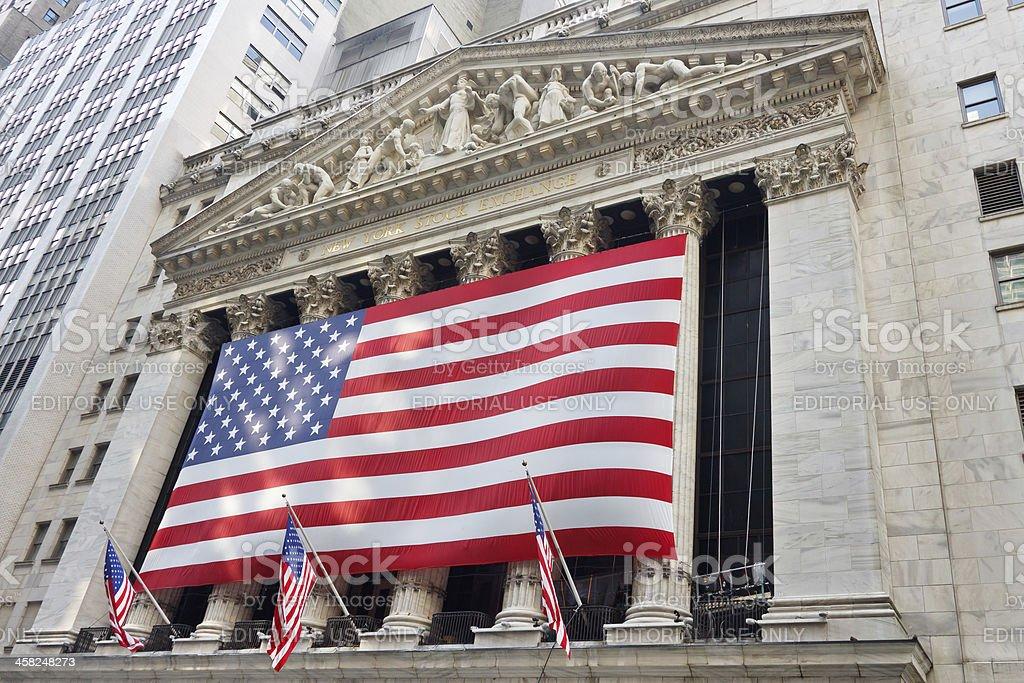 New York Stock Exchange on Wall Street royalty-free stock photo