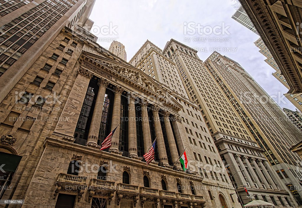 New York Stock Exchange on Wall Street stock photo