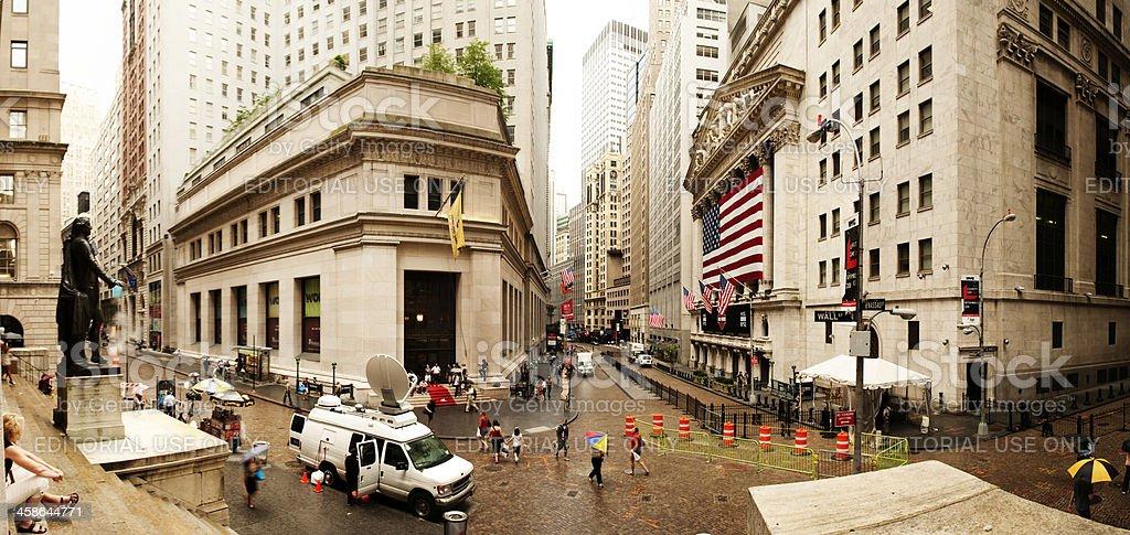 New York Stock Exchange Panorama royalty-free stock photo