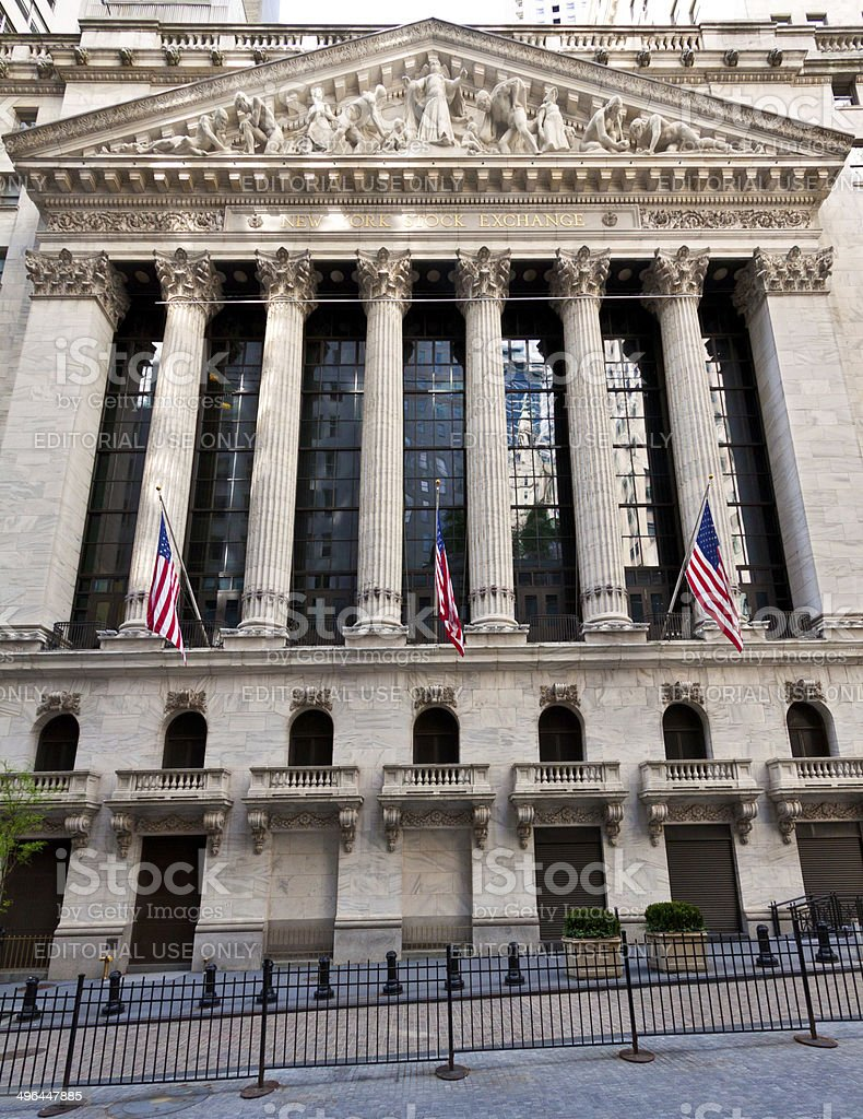 New York Stock Exchange (NYSE), Wall Street, Manhattan Financial District stock photo