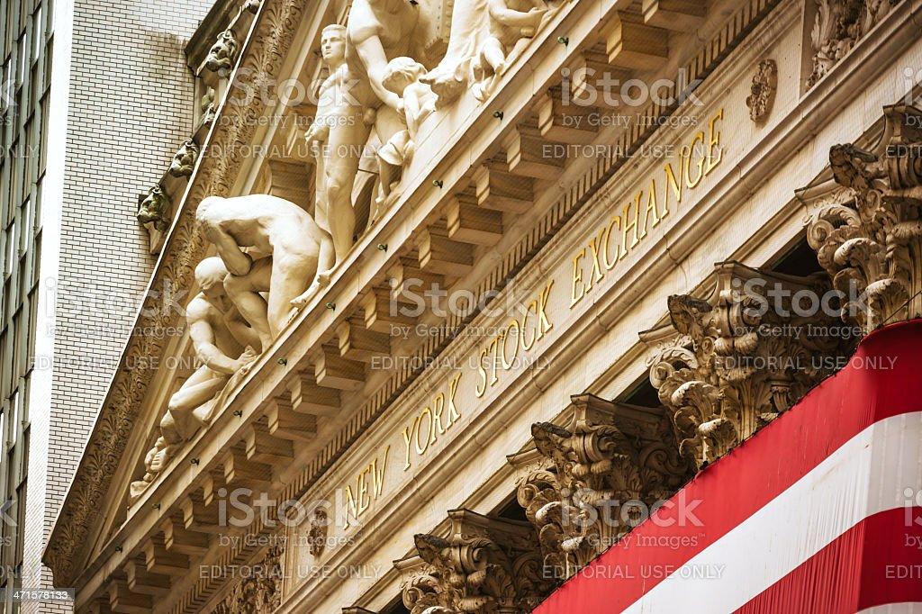 New York Stock Exchange - Wall Street stock photo