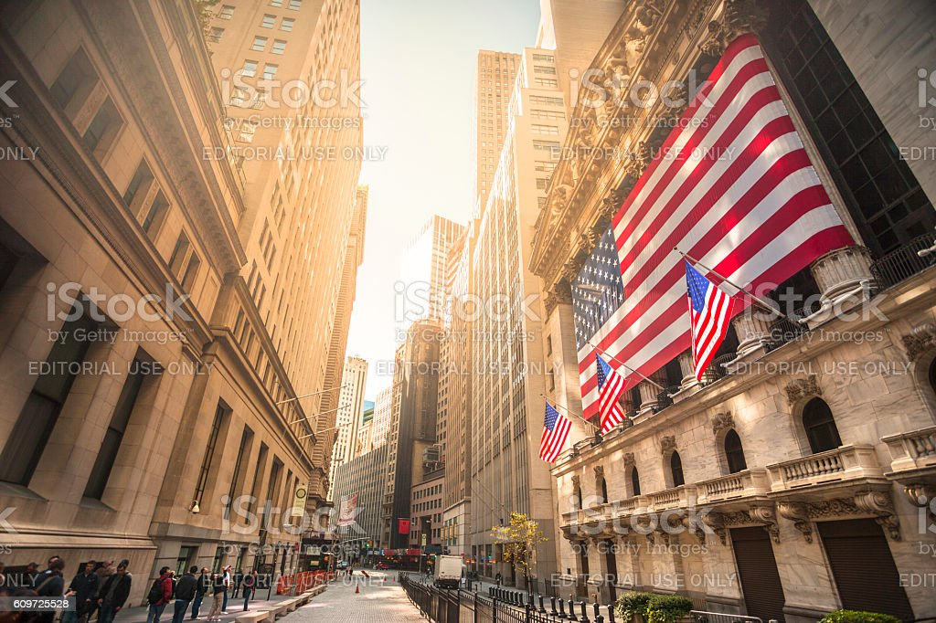 New York stock exchange, Wall Street, USA stock photo