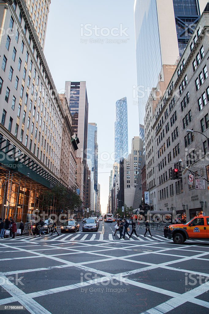 New York Street stock photo