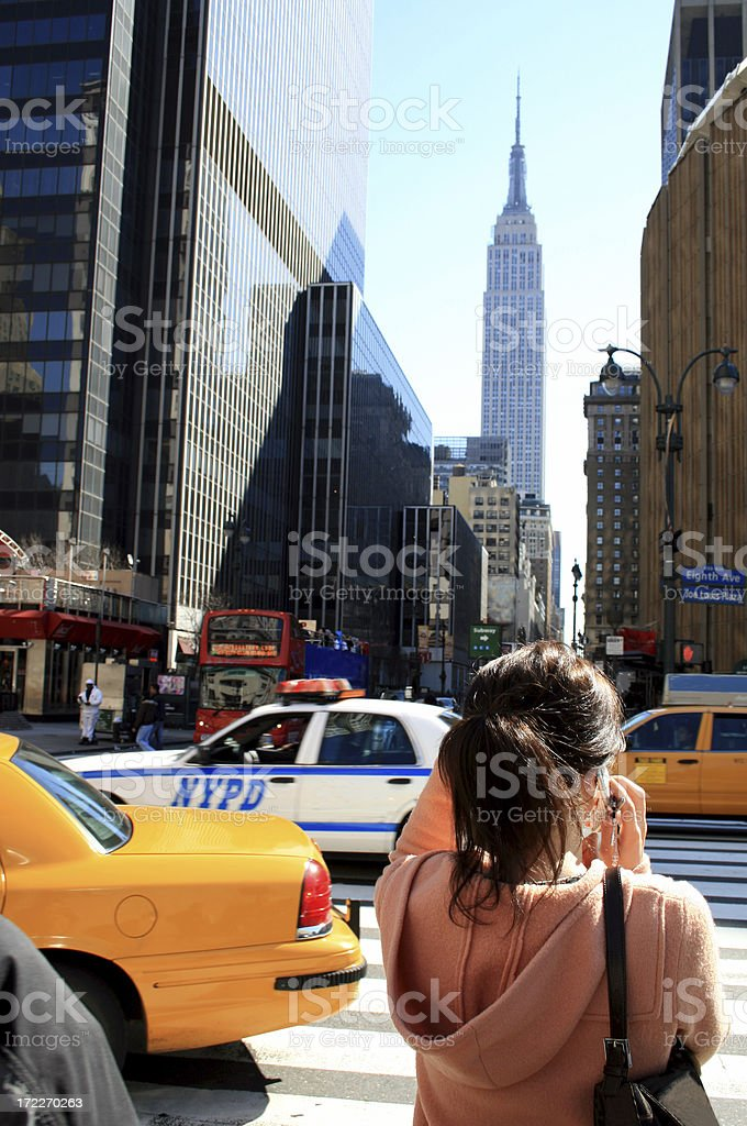 New York Street Scene royalty-free stock photo