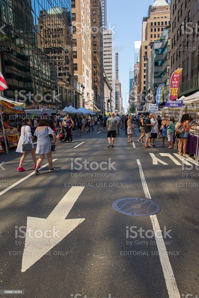 New York streetmarket stock photo