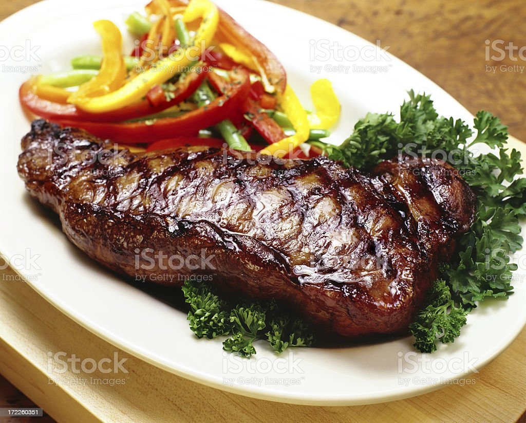 New York Strip Steak stock photo