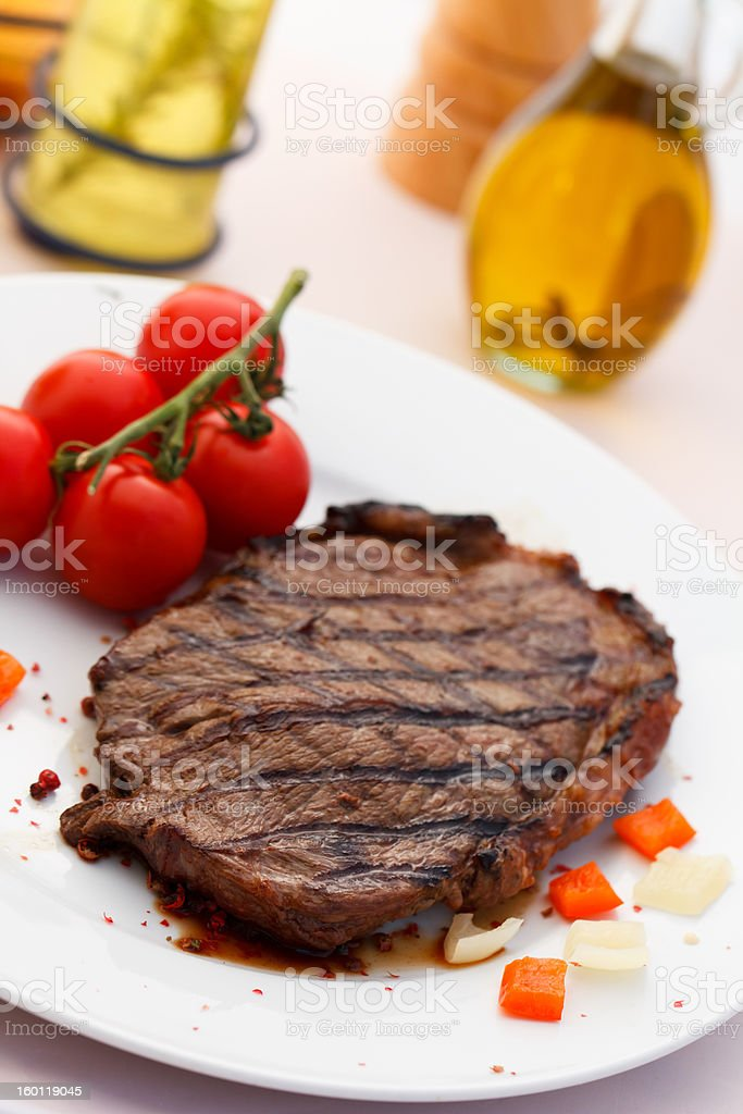 New York Strip Steak,grilled royalty-free stock photo